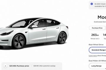 美国特斯拉Model3售价上调500美元
