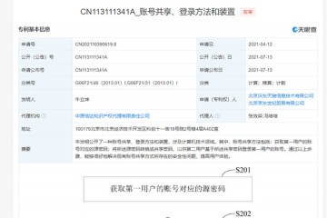 京东公开共享密码专利可解决现有账号共享安全性问题